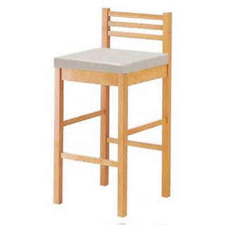 【まとめ買い10個セット品】【 業務用 】椅子 白木 9-137-1