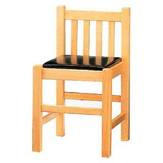 【まとめ買い10個セット品】【 業務用 】椅子 白木[座]黒レザー 9-129-11