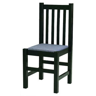 【まとめ買い10個セット品】【 業務用 】椅子 ハイバックタイプ黒塗格子 9-129-19