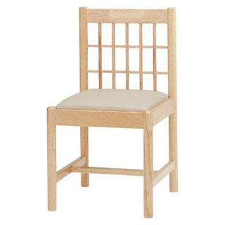 【 業務用 】椅子 白木 9-129-15