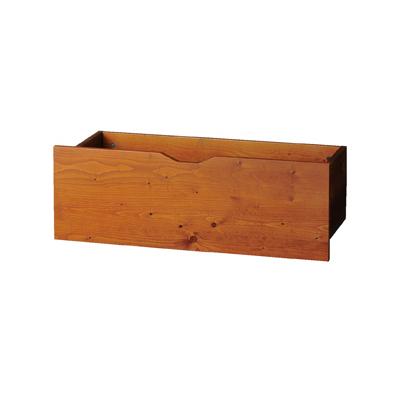 木製収納トロッコW90cm アルテンブラウン 1台 【 シリーズ什器 アルテン オプション アルテン用収納トロッコ ブラウン 】【厨房館】