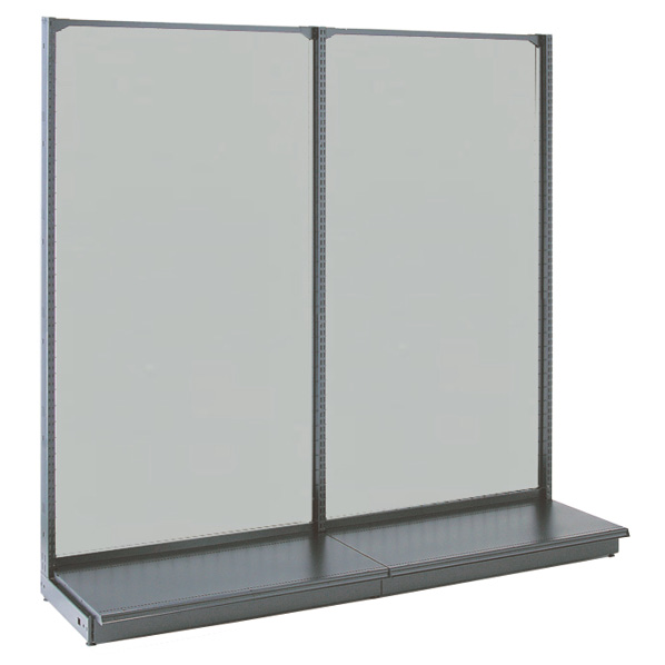 KS鉄地グレー片面ボードタイプ60×165 本体 【厨房館】