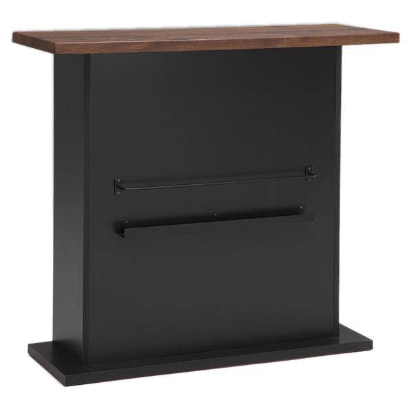 バルブ バーカウンター ブラック W115cm 【厨房館】