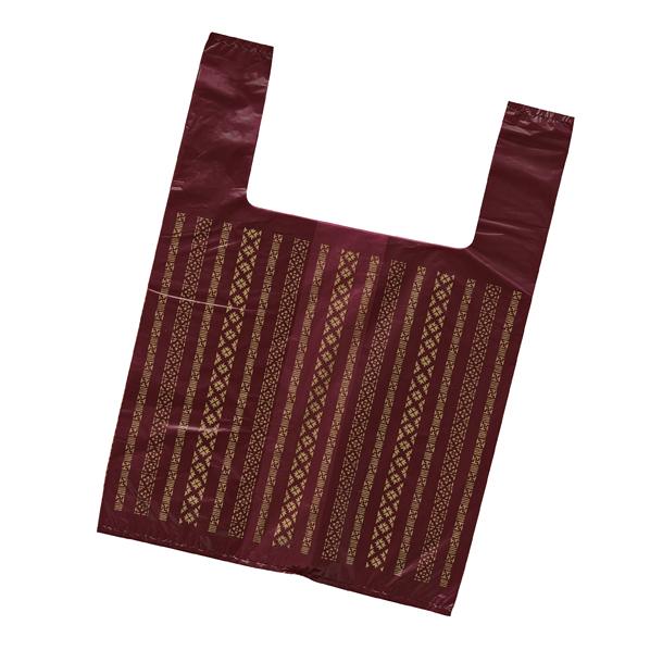レジ袋つむぎ 25×35(23)×横マチ20 1 【 ラッピング用品 ラッピングシリーズ 和風ラッピング レジ袋 つむぎ 】【厨房館】