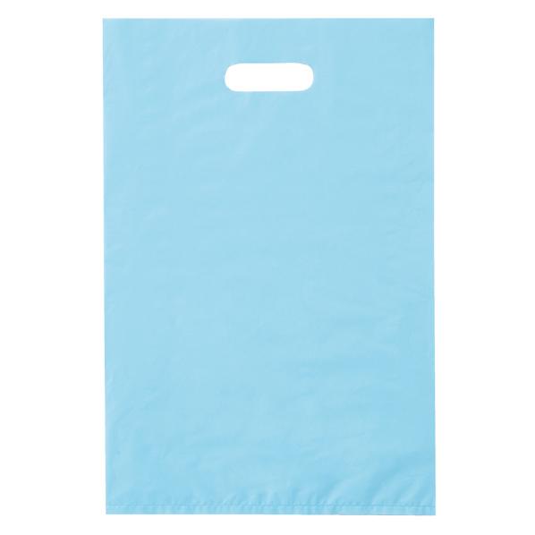 ポリ袋ハード型 ブルー 25×40cm 2000枚 【 ラッピング用品 レジ袋・ポリ袋 スクエアバッグ(無地) ポリ袋ハード型 カラー ブルー 】【厨房館】