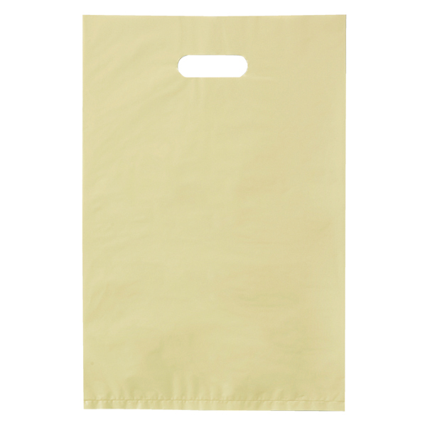 ポリ袋ハード型 アイボリー30×45cm1000枚 【 ラッピング用品 レジ袋・ポリ袋 スクエアバッグ(無地) ポリ袋ハード型 カラー アイボリー 】【厨房館】