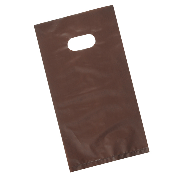 ポリ袋ハード薄口ブラウン14.5cm4000枚 B6 ローコストタイプ 【厨房館】