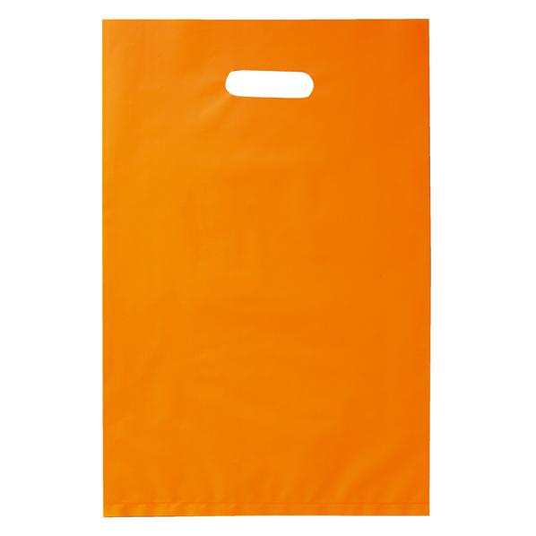 ポリ袋ソフト型 オレンジ 25×40cm 2000枚 【 ラッピング用品 レジ袋・ポリ袋 スクエアバッグ(無地) ポリ袋ソフト型 カラー オレンジ 】【厨房館】