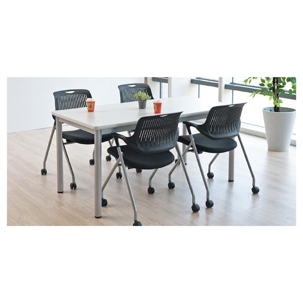 ミーティングテーブルソフトエッジ150×90cmホワイト 【厨房館】