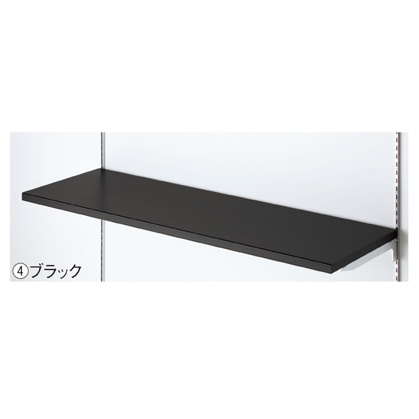 【まとめ買い10個セット品】 木棚セットW60×D40cm ブラック 【厨房館】