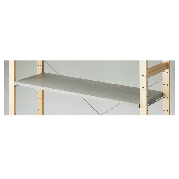 【まとめ買い10個セット品】 スクエアフレーム用木棚セット W120×D40cm セメント柄 【厨房館】