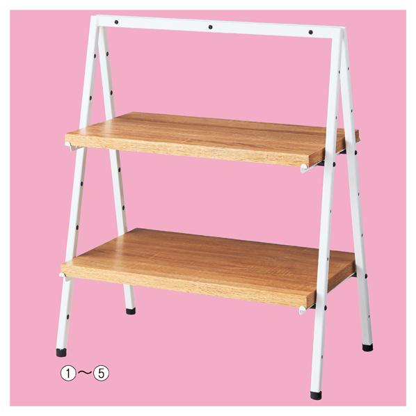 【まとめ買い10個セット品】 卓上ディスプレー 木棚セット D40cm 【厨房館】