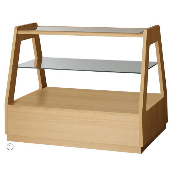 【まとめ買い10個セット品】 木製フレーム3段テーブル エクリュ 【厨房館】