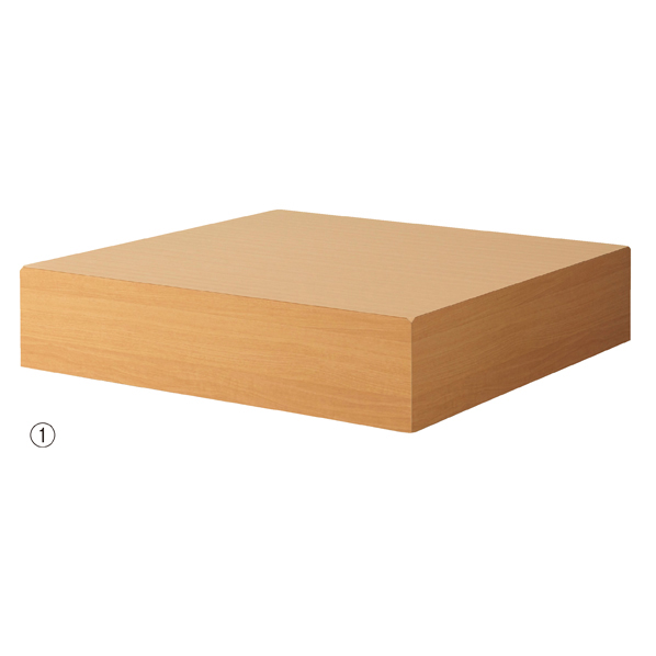 【まとめ買い10個セット品】 木製ボックスステージ H20cm エクリュ 【厨房館】