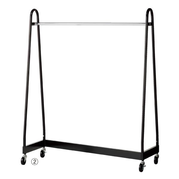 Zハンガー 黒 W120×D50×H150cm 【厨房館】
