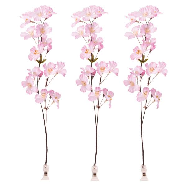 【まとめ買い10個セット品】 桜クリップ3個 【桜 サクラ さくら 春 飾り イベント 装飾】 【厨房館】