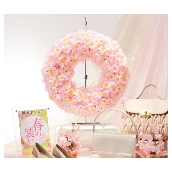 【まとめ買い10個セット品】 桜リース1個 【桜 サクラ さくら 春 飾り イベント 装飾】 【厨房館】