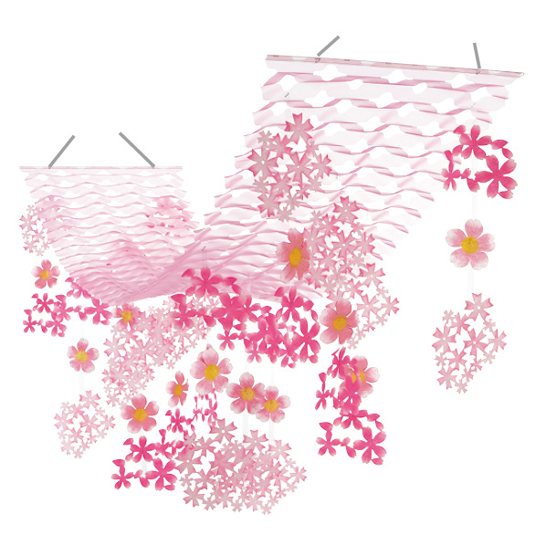 【まとめ買い10個セット品】 さくらプリーツハンガー1枚 【桜 サクラ さくら 春 飾り イベント 装飾】 【厨房館】