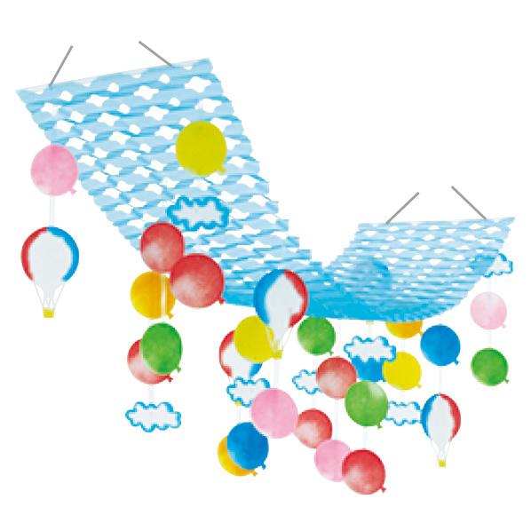 【まとめ買い10個セット品】 風船気球プリーツハンガー1枚 【桜 サクラ さくら 春 飾り イベント 装飾】 【厨房館】