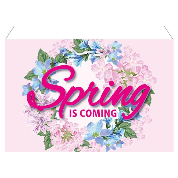 【まとめ買い10個セット品】 Spring is coming 防炎加工ワイドタペ ストリー1枚 【桜 サクラ さくら 春 飾り イベント 装飾】 【厨房館】