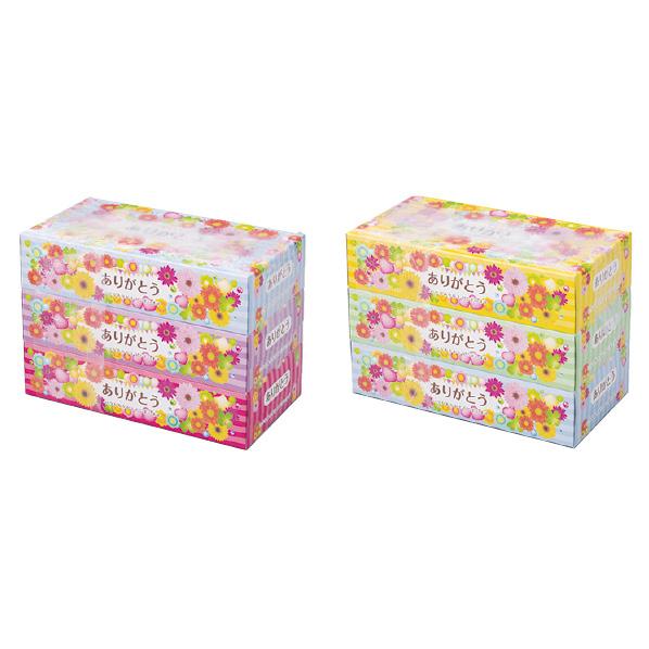 【まとめ買い10個セット品】 ありがとうティッシュ3個24セット 【桜 サクラ さくら 春 景品 プレゼント 雑貨 イベント 装飾】 【厨房館】