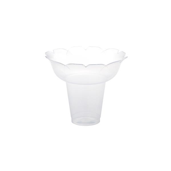 【まとめ買い10個セット品】 カキ氷カップ フラワー 大 クリア 25個 【厨房館】