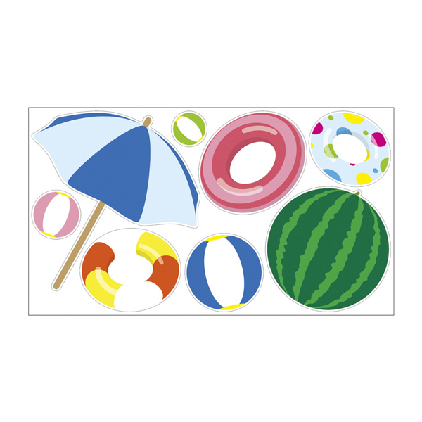【まとめ買い10個セット品】 ウインドウシール ビーチ1セット 【厨房館】