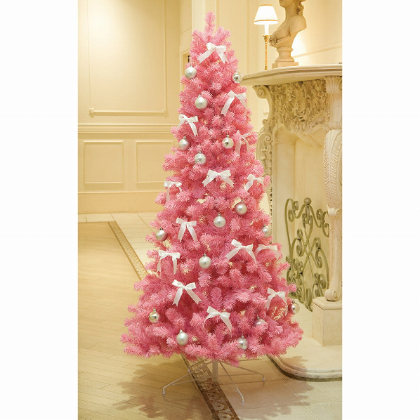 ピンクツリー H180×W90cm1本【クリスマス クリスマスツリー ツリー 店舗装飾 飾り ディスプレイ christmas xmas】【厨房館】