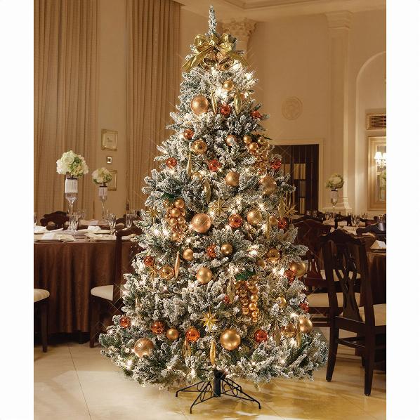 フロストツリーセットゴールドH210×W135cm1セット【クリスマス クリスマスツリー ツリー 店舗装飾 飾り ディスプレイ christmas xmas】【厨房館】