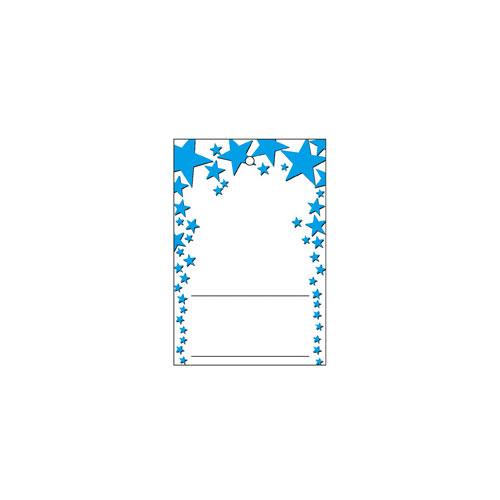 【まとめ買い10個セット品】 さげ札(糸無し) スター ブルー 500枚【販促用品 ポスター POP タグ 店舗備品】【厨房館】