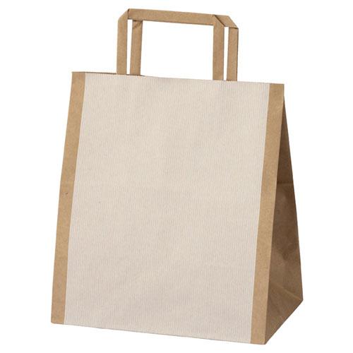 【まとめ買い10個セット品】 シンプルクオリティ 手提げ紙袋 22×14×25 50枚【店舗備品 包装紙 ラッピング 袋 ディスプレー店舗】【厨房館】