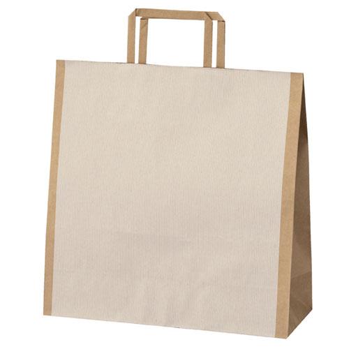 【まとめ買い10個セット品】 シンプルクオリティ 手提げ紙袋 32×11.5×32 50枚【店舗備品 包装紙 ラッピング 袋 ディスプレー店舗】【厨房館】