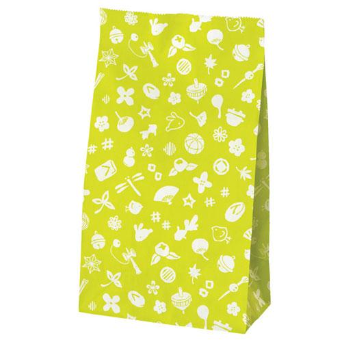【まとめ買い10個セット品】 花小町 角底紙袋 うぐいす 100枚【店舗備品 包装紙 ラッピング 袋 ディスプレー店舗】【厨房館】