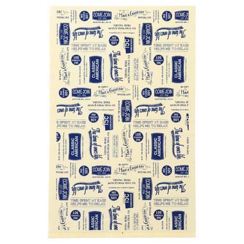 【まとめ買い10個セット品】 アメリカンヴィンテージ ギフトバッグ 24×38 100枚【店舗什器 小物 ディスプレー ギフト ラッピング 包装紙 袋 消耗品 店舗備品】【厨房館】