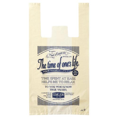 アメリカンヴィンテージ レジ袋 18×35(23)×横マチ10 6000枚【店舗備品 包装紙 ラッピング 袋 ディスプレー店舗】【厨房館】