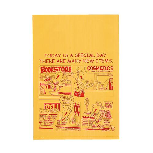 アメリカンコミック ギフトバッグ 17×25 4000枚【店舗備品 包装紙 ラッピング 袋 ディスプレー店舗】【厨房館】