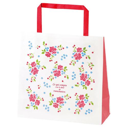 【まとめ買い10個セット品】 ローズガーデン 手提げ紙袋 18×8×18 50枚【店舗備品 包装紙 ラッピング 袋 ディスプレー店舗】【厨房館】