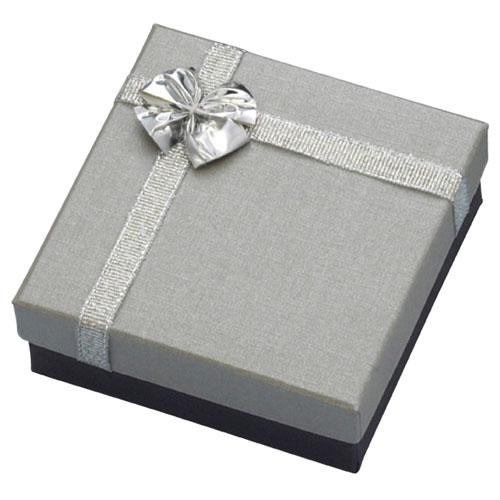 【まとめ買い10個セット品】 リボン付き アクセサリーボックス 8×8×3.5 20個【店舗什器 パネル 壁面 小物 ディスプレー 店舗備品】【厨房館】