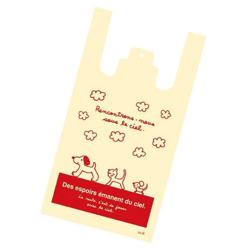 レジ袋 スキップキッズ 18×35(23)×横マチ10 6000枚【店舗什器 小物 ディスプレー ギフト ラッピング 包装紙 袋 消耗品 店舗備品】【厨房館】