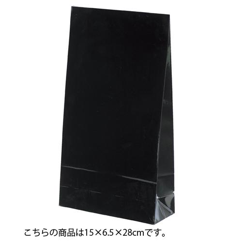 ギフトファンシーバッグ 黒 15×6.5×28 500枚【店舗備品 包装紙 ラッピング 袋 ディスプレー店舗】【厨房館】