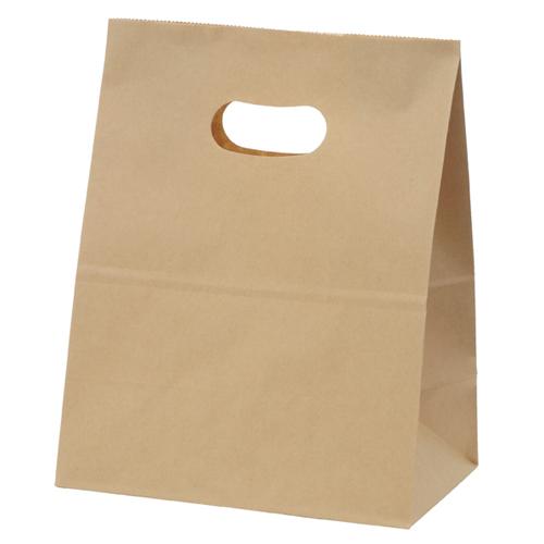 【まとめ買い10個セット品】 イーグリップ 茶無地 18×10.5×22.5 500枚【店舗備品 包装紙 ラッピング 袋 ディスプレー店舗】【厨房館】