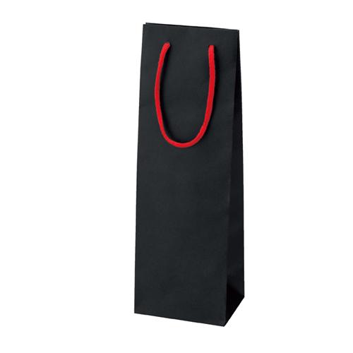 ワインバッグ ブラック 100枚【店舗備品 包装紙 ラッピング 袋 ディスプレー店舗】【厨房館】