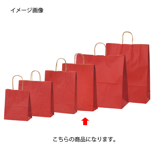 【まとめ買い10個セット品】 カラー手提げ紙袋 レッド 32×11.5×41 50枚【店舗備品 包装紙 ラッピング 袋 ディスプレー店舗】【厨房館】