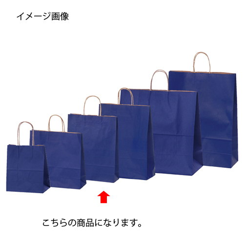 【まとめ買い10個セット品】 カラー手提げ紙袋 ネイビー 27×8×34 200枚【店舗備品 包装紙 ラッピング 袋 ディスプレー店舗】【厨房館】