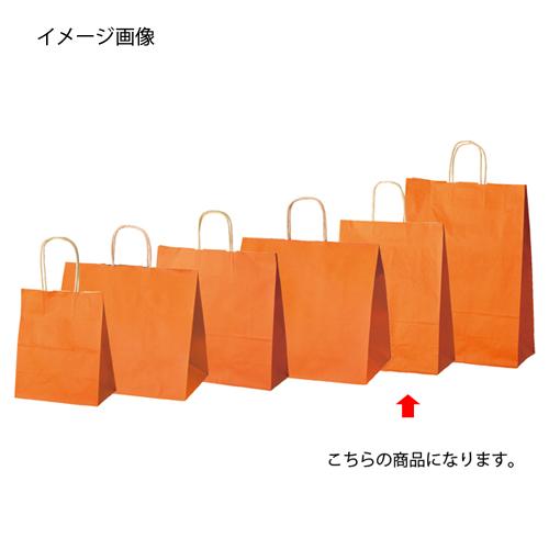 【まとめ買い10個セット品】 カラー手提げ紙袋 オレンジ 27×8×34 200枚【店舗什器 小物 ディスプレー ギフト ラッピング 包装紙 袋 消耗品 店舗備品】【厨房館】