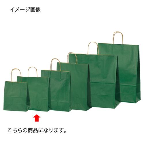 【まとめ買い10個セット品】 カラー手提げ紙袋 グリーン 32×11.5×31 200枚【店舗備品 包装紙 ラッピング 袋 ディスプレー店舗】【厨房館】