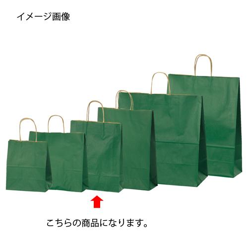 【まとめ買い10個セット品】 カラー手提げ紙袋 グリーン 27×8×34 200枚【店舗備品 包装紙 ラッピング 袋 ディスプレー店舗】【厨房館】