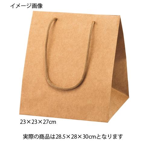 【まとめ買い10個セット品】 アレンジバッグ 茶 28.5×28×30 50枚【店舗什器 小物 ディスプレー ギフト ラッピング 包装紙 袋 消耗品 店舗備品】【厨房館】