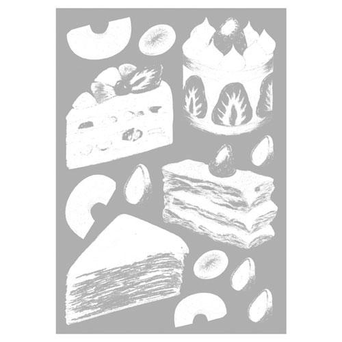 【まとめ買い10個セット品】 ウインドウシール ケーキ ケーキ【店舗什器 小物 ディスプレー POP ポスター 消耗品 店舗備品】【厨房館】
