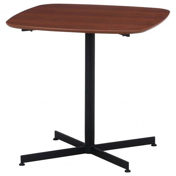 カフェテーブル レグナ 75cm×75cm ブラウン 1台 【厨房館】